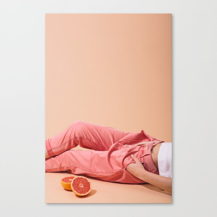 Legs with Grapefruit Canvas Print