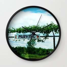 Parking Wall Clock