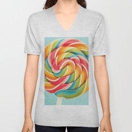 Rainbow Lollipop Unisex V-Neck