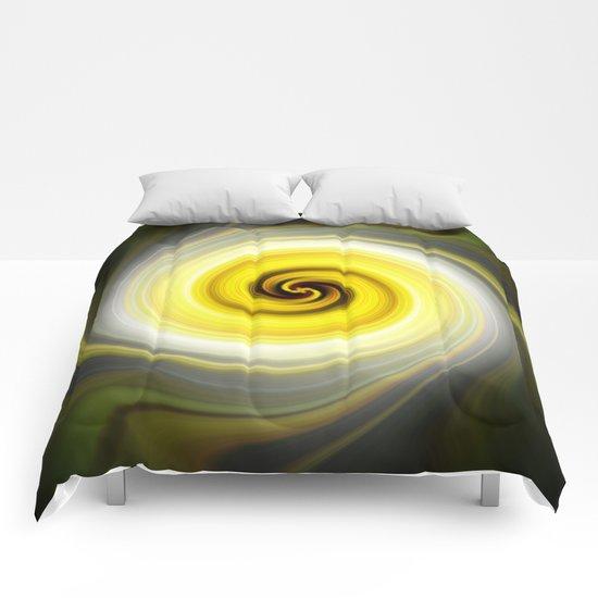 Twirl Yellow Comforters