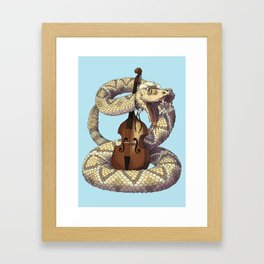 D is for Diamondback Rattlesnake, Western Framed Art Print