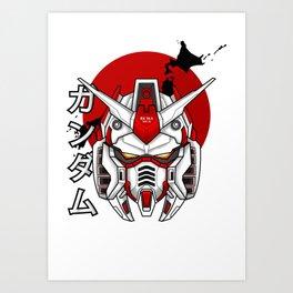 Gundam RX 78-5 Ver.SS Custom Build Art Print