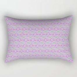 Bad Ass Floral - purples Rectangular Pillow