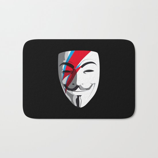 Who wants to be Anonymous? Let's be Fabulous! Viggy Starfawkes. Bath Mat