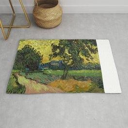 Vincent Van Gogh : Landscape at Twilight Rug
