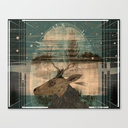 The Deer and the House Canvas Print
