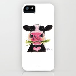 Nosey Cow ' ROCKY ' by Shirley MacArthur iPhone Case