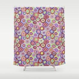 Millefiori-Coolio Colors Shower Curtain