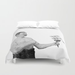 Chivalry, woman. Duvet Cover