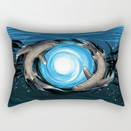 Shark Mandala Rectangular Pillow