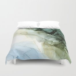 Land and Sky Abstract Landscape Painting Duvet Cover