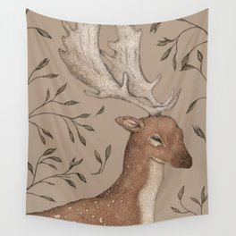 The Fallow Deer and Oats Wall Tapestry