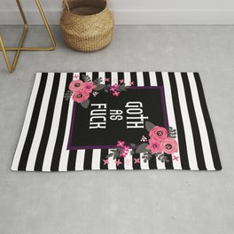Goth As Fuck, Pretty Funny Quote Rug