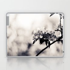 Black and White Flowers Laptop & iPad Skin