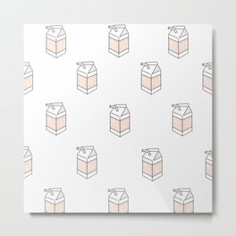 Peach Milk Cartons Metal Print