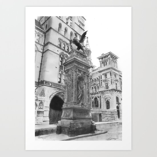 Temple Bar Memorial (London) Art Print