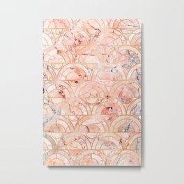 Peachy Marble (foor) Metal Print