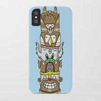 totem iPhone & iPod Cases featuring totem by ybalasiano