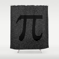 pi Shower Curtains featuring Pi by The Colour Wheel