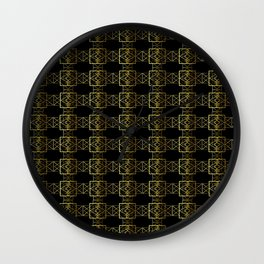 Jazzy Pattern Wall Clock