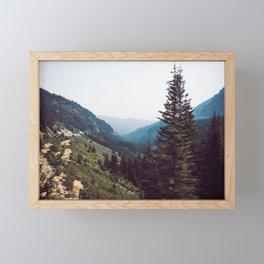 Mountain Morning Mist Nature Photography Framed Mini Art Print