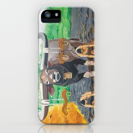 Paths in the soil iPhone Case