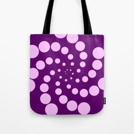 purple fat spiral Tote Bag