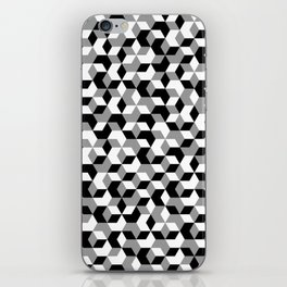 Hexagon(mono) #1 iPhone Skin
