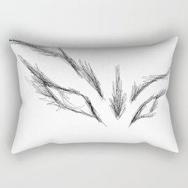Beauty be damned Rectangular Pillow