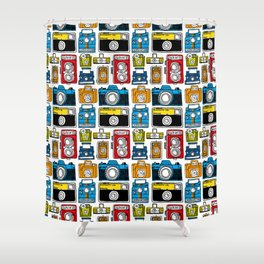 Camera Collection Shower Curtain
