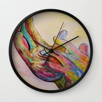 jesus Wall Clocks featuring JESUS by EloiseArt