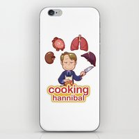 cooking iPhone & iPod Skins featuring Cooking Hannibal by Sabrina Cotugno