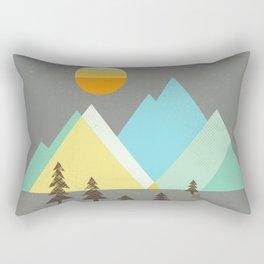 Asphalt Sun Rectangular Pillow