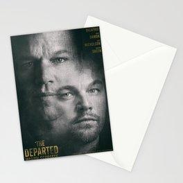 The Departed, Martin Scorsese movie poster, Leonardo DiCaprio, Matt Damon, american mafia film Stationery Cards
