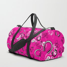 Gamers-Pink Duffle Bag