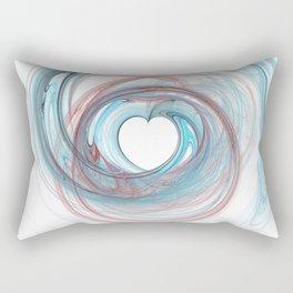 Valentine's Fractal IX - Light Rectangular Pillow