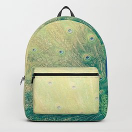 Peacock Spreading Feathers Backpack