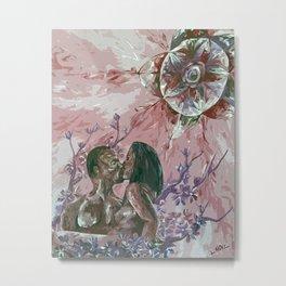 Cherry Blossom Moon Remix Metal Print