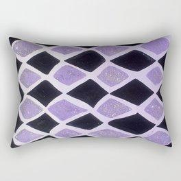 Purple and Black Diamonds Rectangular Pillow
