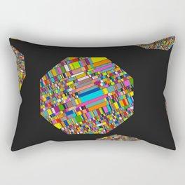 Pixelated Octagons Rectangular Pillow