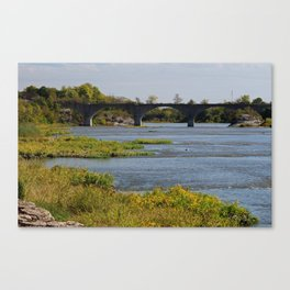Sunkissed Maumee at Roche de Boeuf Canvas Print