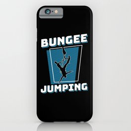 Bungee Jumping Extreme Sport iPhone Case