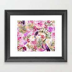 Hummingbird Garden Framed Art Print