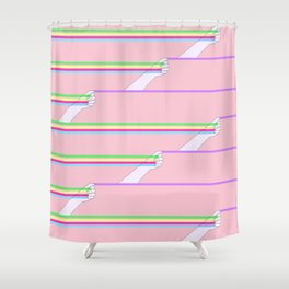 Feminist power pattern Shower Curtain