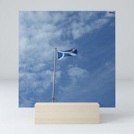 Scottish Photography Series (Vectorized) - Saltire Flag Flying Mini Art Print