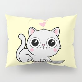 Kitty Hearts Kill - Cats Love Plotting Pillow Sham