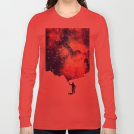 Painting the universe (Colorful Negative Space Art) Long Sleeve T-shirt