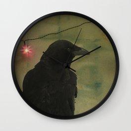 Dark Crow Celebration Wall Clock