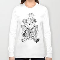 teddy bear Long Sleeve T-shirts featuring Teddy Bear by Gribouilliz