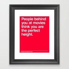 Perfect Movie Height Framed Art Print